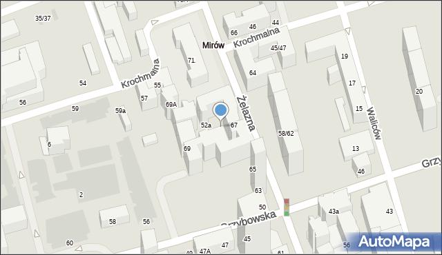 Warszawa, Żelazna, 67l, mapa Warszawy