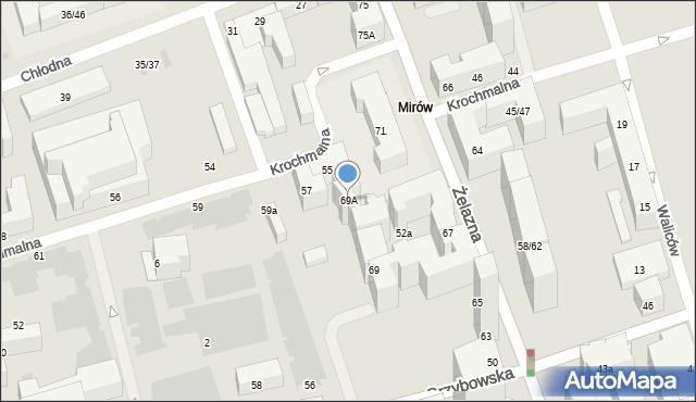 Warszawa, Żelazna, 69A, mapa Warszawy