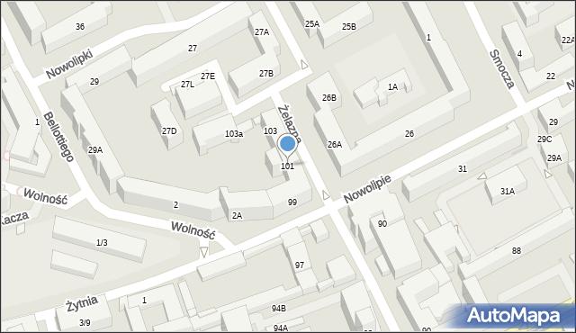 Warszawa, Żelazna, 101, mapa Warszawy
