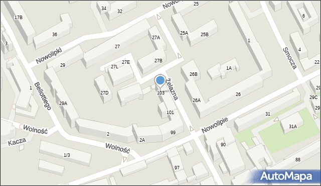 Warszawa, Żelazna, 103, mapa Warszawy