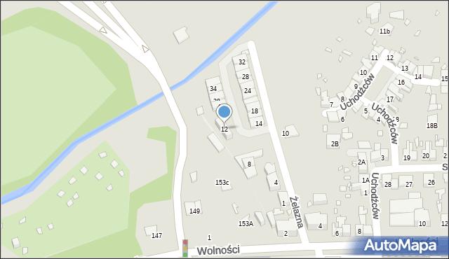 Zabrze, Żelazna, 12, mapa Zabrza
