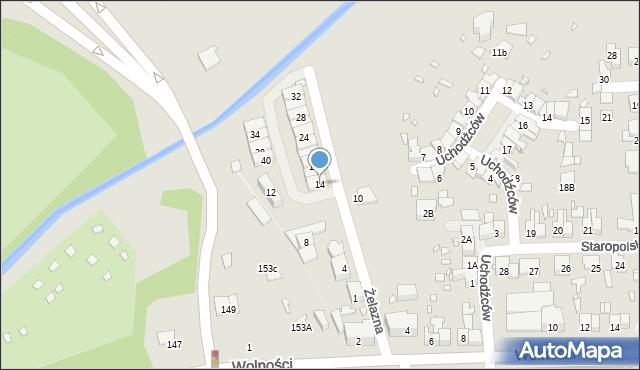 Zabrze, Żelazna, 14, mapa Zabrza