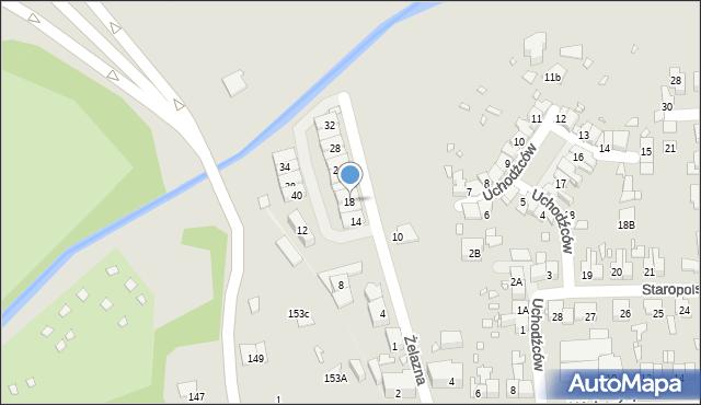 Zabrze, Żelazna, 18, mapa Zabrza
