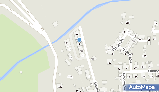 Zabrze, Żelazna, 22, mapa Zabrza