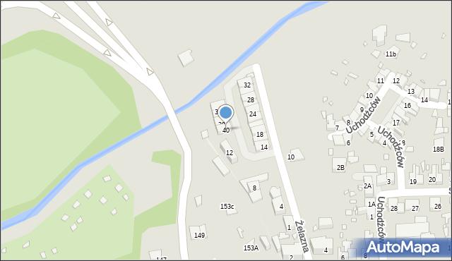 Zabrze, Żelazna, 40, mapa Zabrza