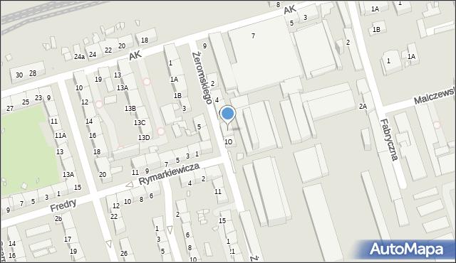 Zabrze, Żeromskiego Stefana, 8, mapa Zabrza
