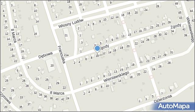 Bytom, Zgody, 10, mapa Bytomia