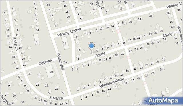 Bytom, Zgody, 3, mapa Bytomia