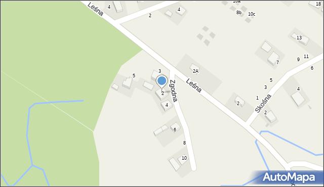 Las, Zgodna, 2, mapa Las