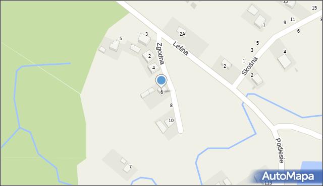 Las, Zgodna, 6, mapa Las