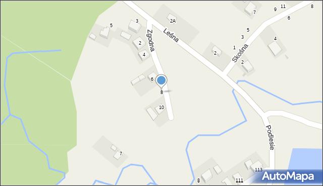 Las, Zgodna, 8, mapa Las