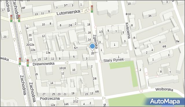 Łódź, Zgierska, 10, mapa Łodzi
