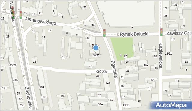 Łódź, Zgierska, 46/50, mapa Łodzi