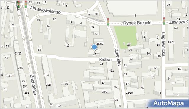 Łódź, Zgierska, 46, mapa Łodzi