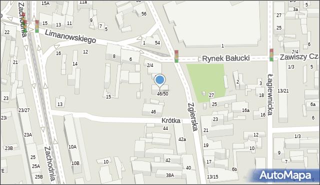 Łódź, Zgierska, 48, mapa Łodzi