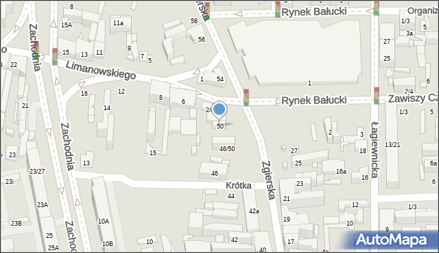 Łódź, Zgierska, 50, mapa Łodzi