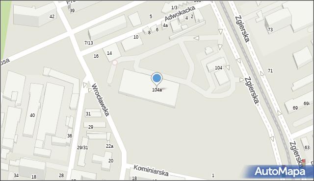 Łódź, Zgierska, 104a, mapa Łodzi