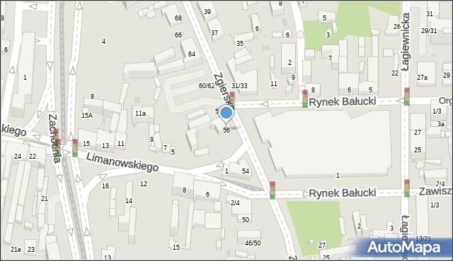 Łódź, Zgierska, 56, mapa Łodzi