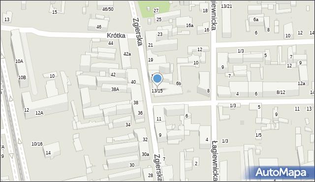 Łódź, Zgierska, 15, mapa Łodzi
