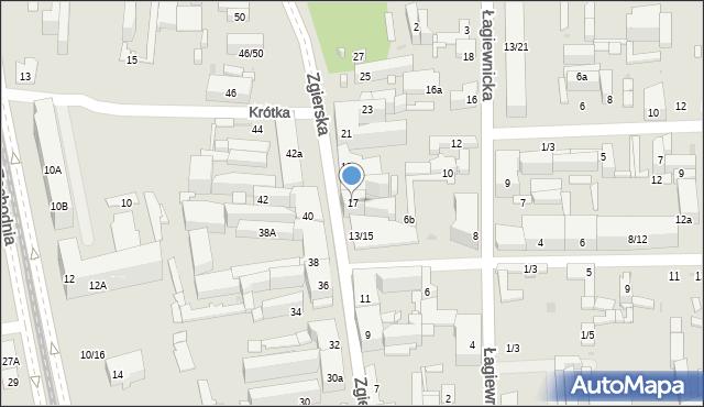 Łódź, Zgierska, 17, mapa Łodzi
