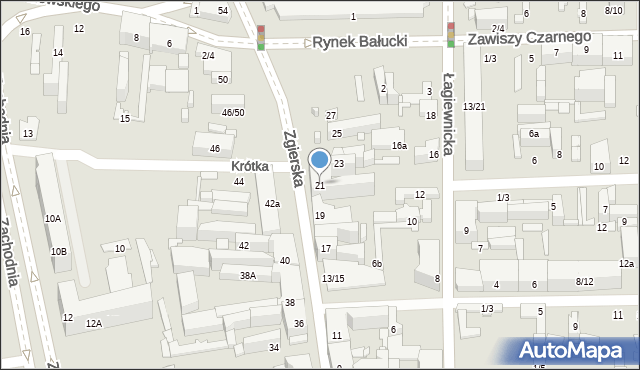 Łódź, Zgierska, 21, mapa Łodzi