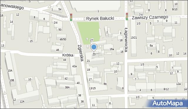 Łódź, Zgierska, 23, mapa Łodzi