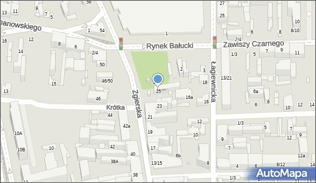 Łódź, Zgierska, 25, mapa Łodzi
