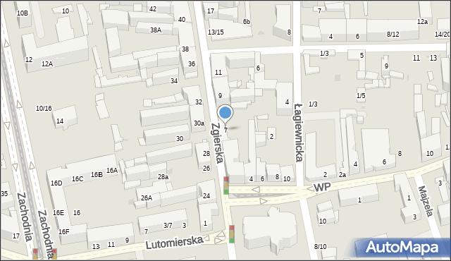 Łódź, Zgierska, 7, mapa Łodzi