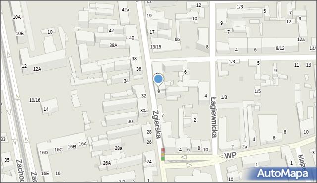 Łódź, Zgierska, 9, mapa Łodzi