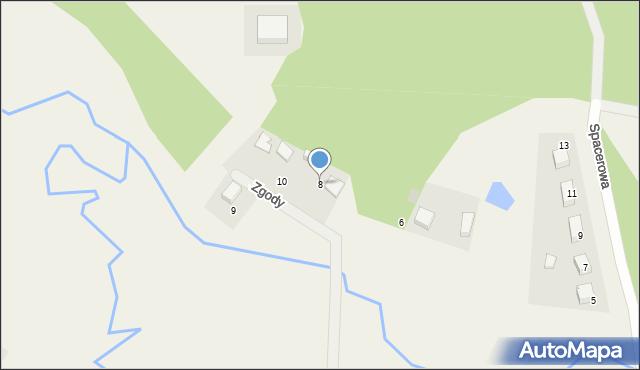 Luzino, Zgody, 8, mapa Luzino