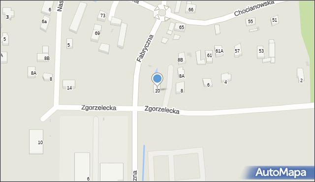 Polkowice, Zgorzelecka, 10, mapa Polkowice