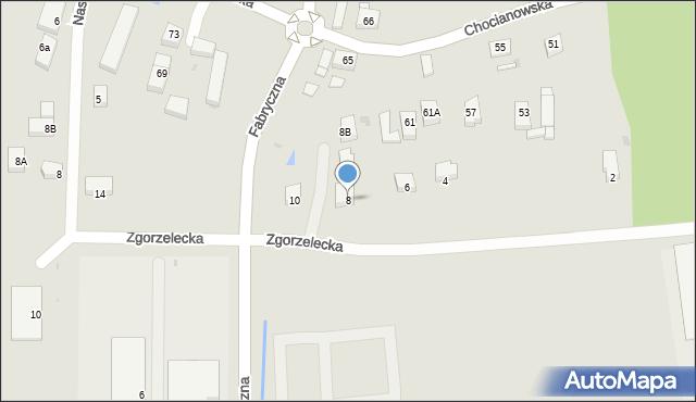 Polkowice, Zgorzelecka, 8, mapa Polkowice