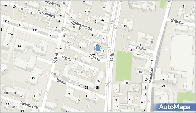 Sosnowiec, Zgoda, 1, mapa Sosnowca