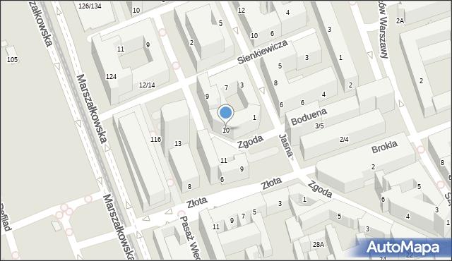 Warszawa, Zgoda, 10, mapa Warszawy