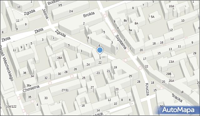 Warszawa, Zgoda, 1, mapa Warszawy