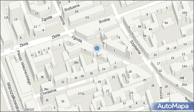 Warszawa, Zgoda, 3, mapa Warszawy