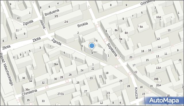 Warszawa, Zgoda, 4, mapa Warszawy