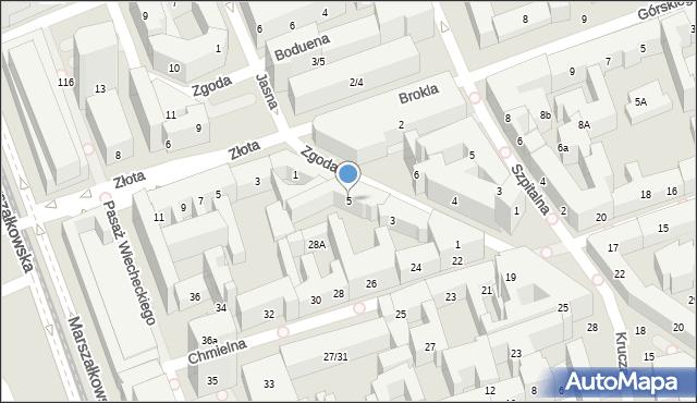 Warszawa, Zgoda, 5, mapa Warszawy