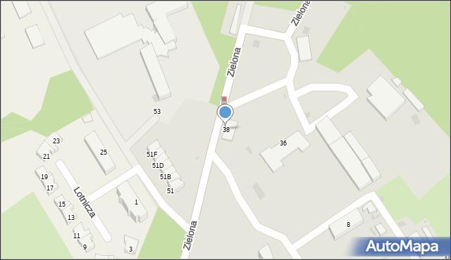 Gdynia, Zielona, 38, mapa Gdyni