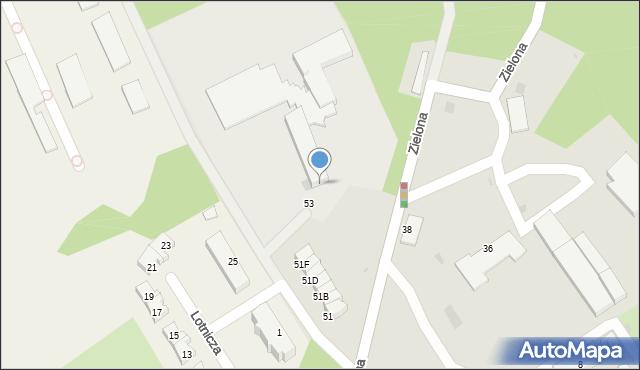 Gdynia, Zielona, 53, mapa Gdyni
