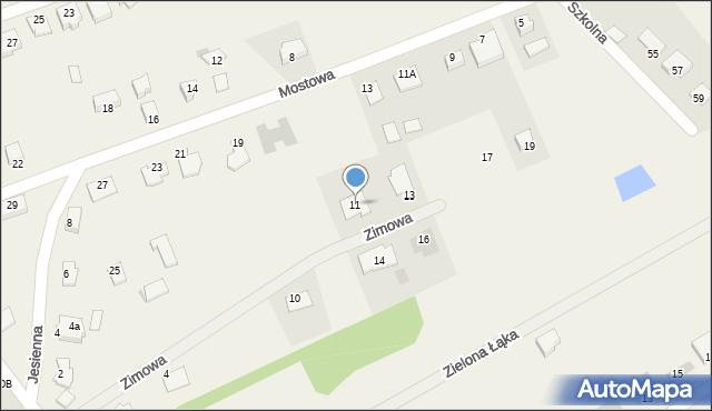 Grębocin, Zimowa, 11, mapa Grębocin