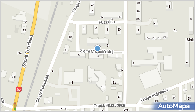 Grudziądz, Ziemi Chełmińskiej, 3, mapa Grudziądza