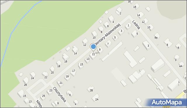 Kętrzyn, Zientary-Malewskiej Marii, 11, mapa Kętrzyn