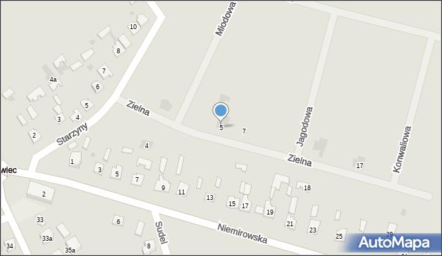 Lubaczów, Zielna, 5, mapa Lubaczów