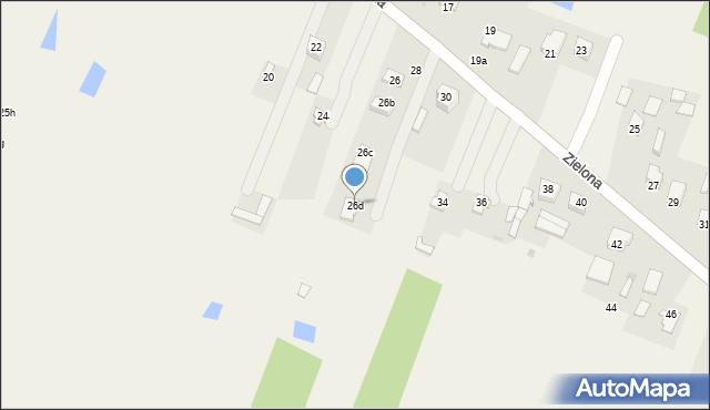 Pokrówka, Zielona, 26d, mapa Pokrówka
