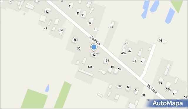 Pokrówka, Zielona, 52, mapa Pokrówka