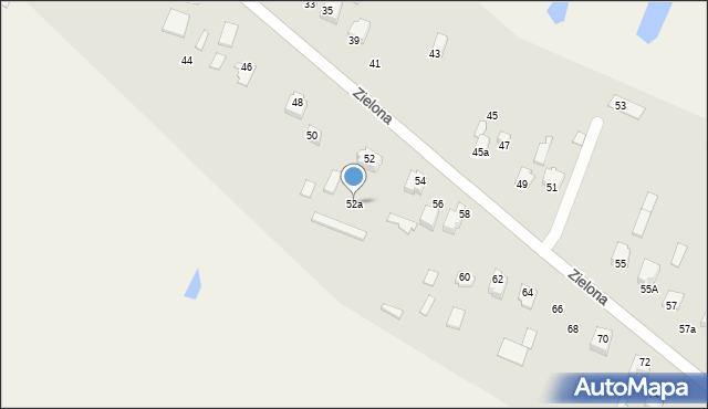Pokrówka, Zielona, 52a, mapa Pokrówka