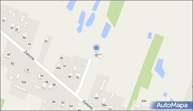 Pokrówka, Zielona, 53, mapa Pokrówka
