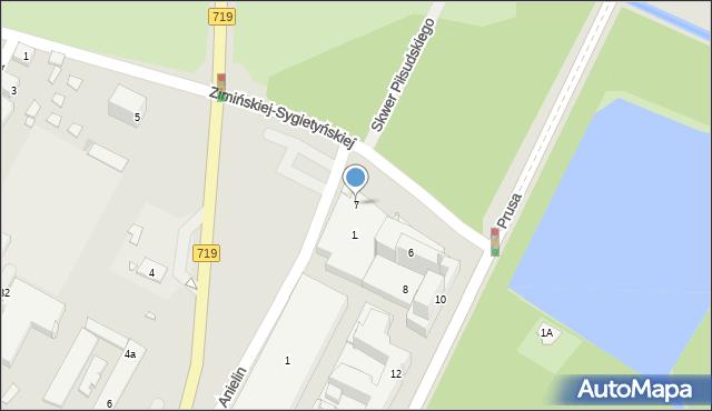 Pruszków, Zimińskiej-Sygietyńskiej Miry, 7, mapa Pruszków