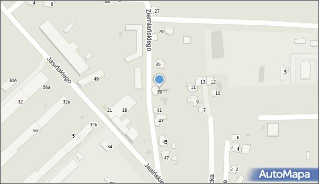 Przemyśl, Ziemiańskiego Józefa, ks., 39, mapa Przemyśla